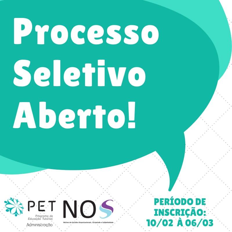 Processo Seletivo PET ADM 2020